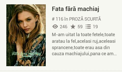 Fata Fără Machiaj Anunț Wattpad