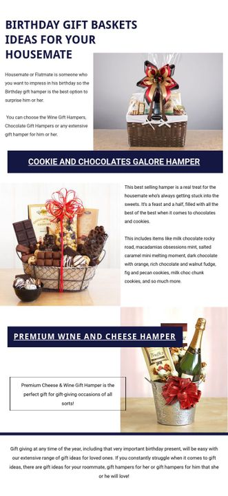 Birthday Gift Ideas Or Birthday Gift Basket For The Housemate