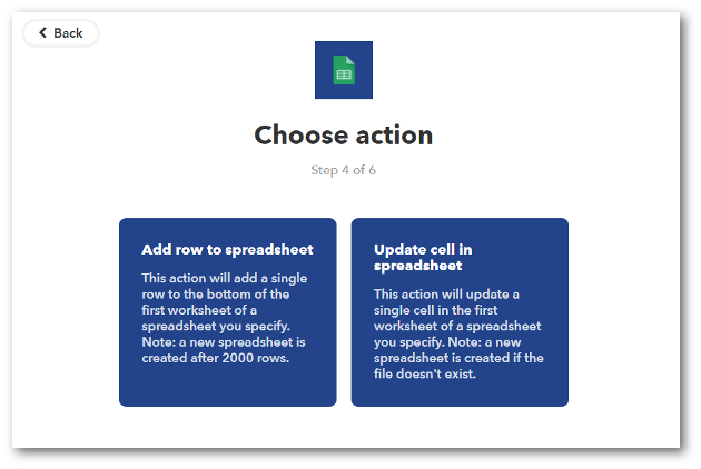 Step 5 -Complete the Action Fields