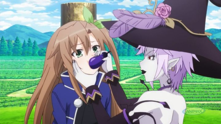 It was an instant when Arfoire shoved the eggplant in her mouth already