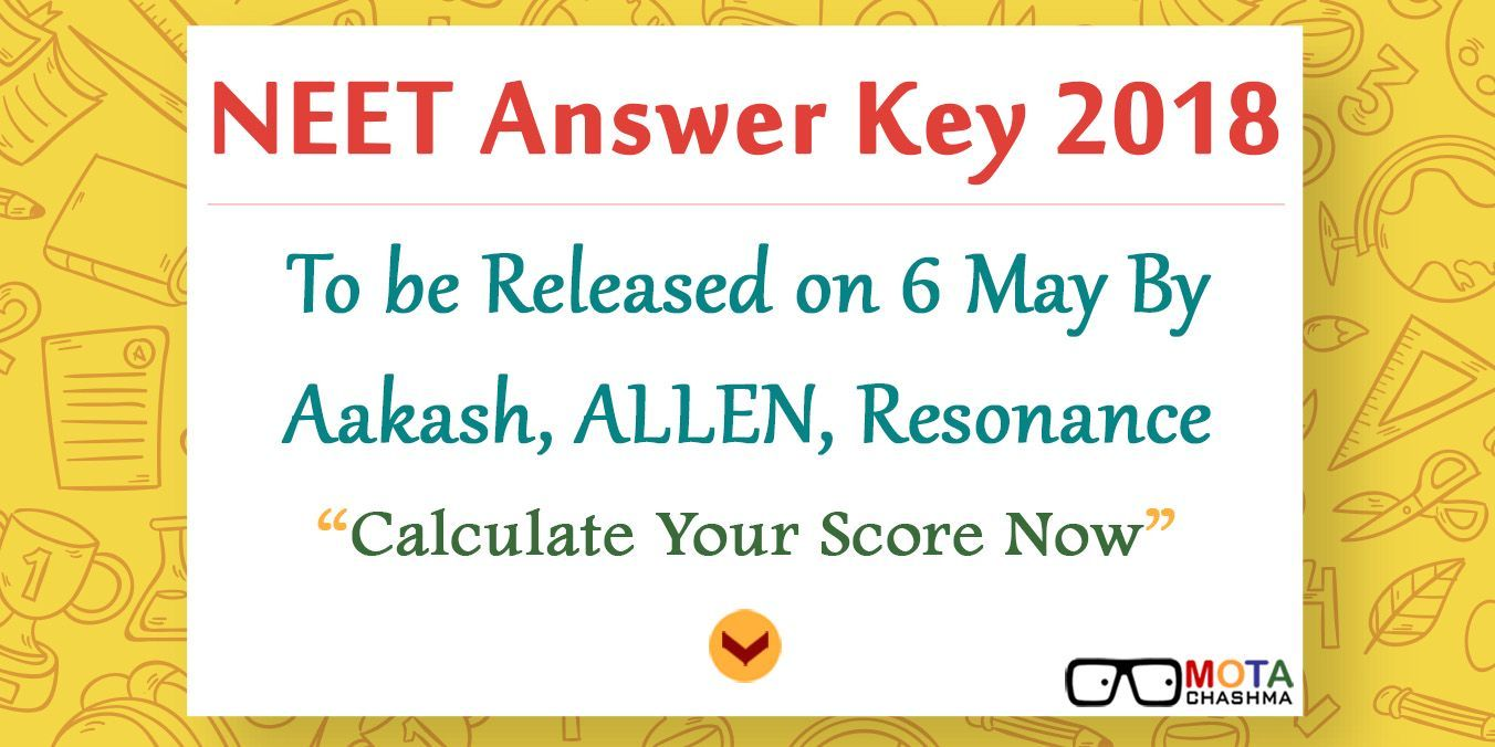 The answer key contains all the answer to all the questions that were asked in the entrance test