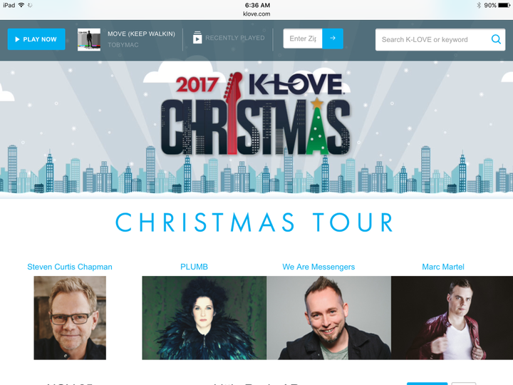 im going to the k love christmas tour in december it features