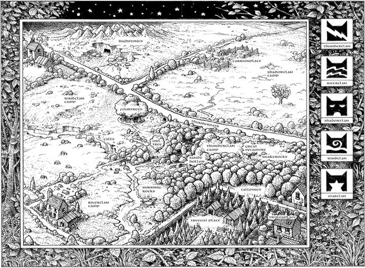 Image result for warrior erin hunter forest map