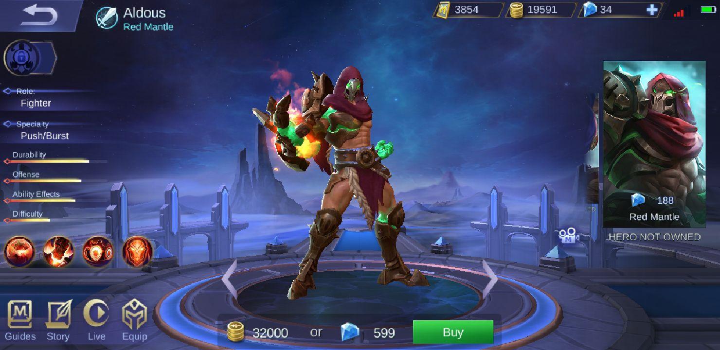 Mobile Legends Characters u0026 Skins - ☬Red Mantle - Wattpad