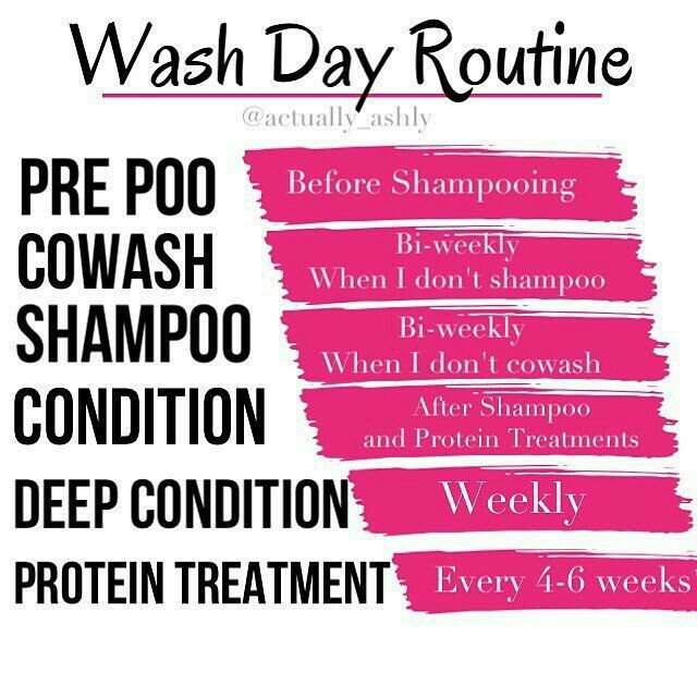 As washing your hair is a 'Do' Don't! Use shampoo especially if it has in any forms of sulfate