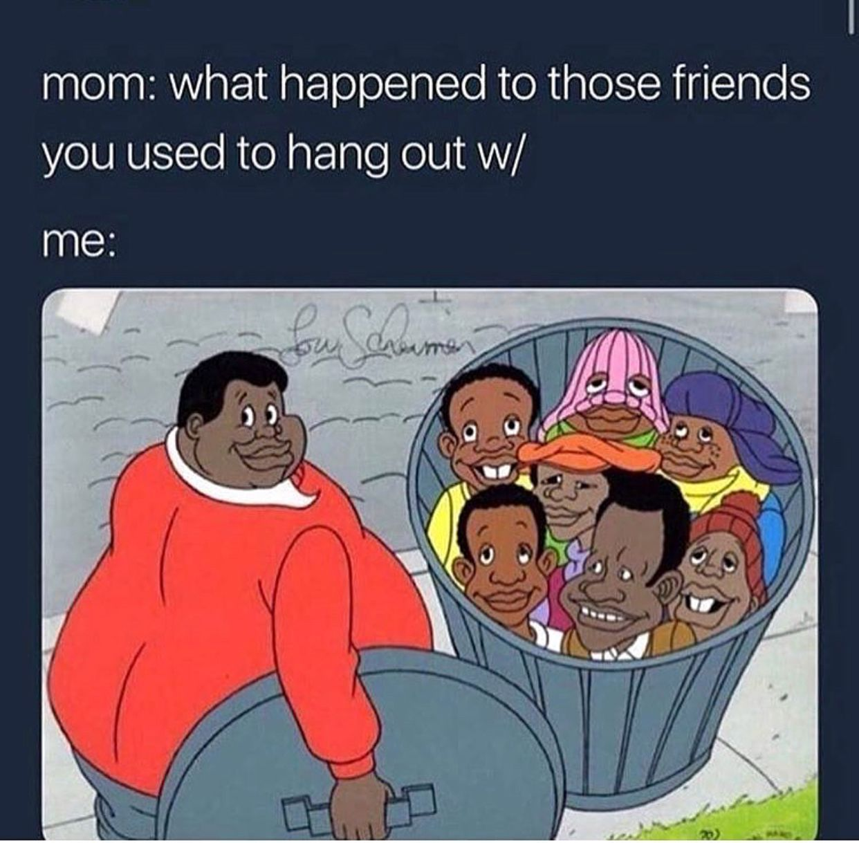 I can't tell my mom shit about my friends because she stays asking me lots of questions