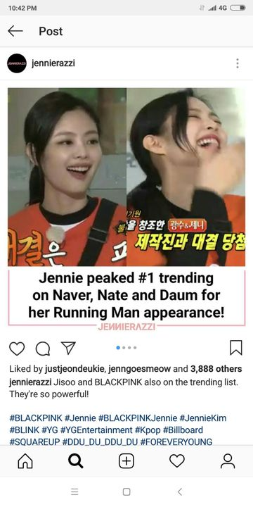 Random Thought - Jennie di Running Man - Wattpad