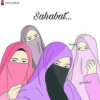 Koleksi Kartun Muslimah 2 Sahabat Wattpad