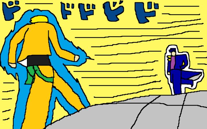 Mis Dibujos Dibujo De Jotaro Vs Dio Manga Wattpad