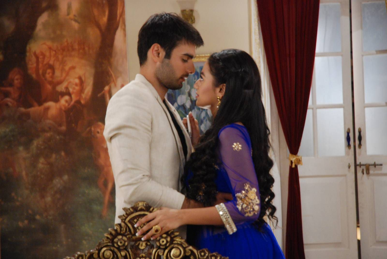 Sanskar(lovingly): I love you swara
