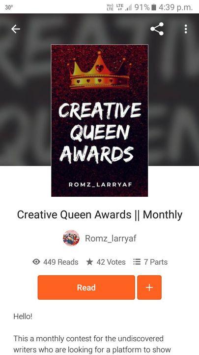 Creative Queen Awards By:- Romz_larryaf