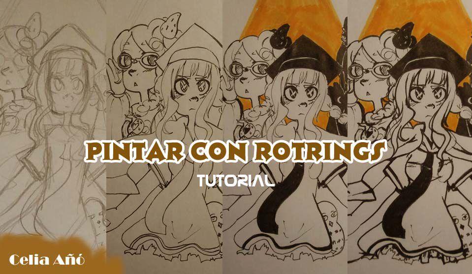 El tutorial es para pintar como los dibujos de mi inktober (Los podéis ver en el enlace externo), pero estos consejos los podéis extrapolar a otros tipos de dibujo y material