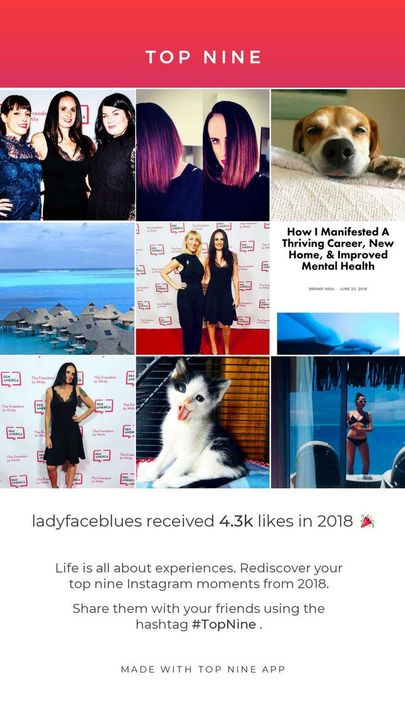 Sharing your top nine collage is a snapshot of your year, and it proves you survived it like a boss