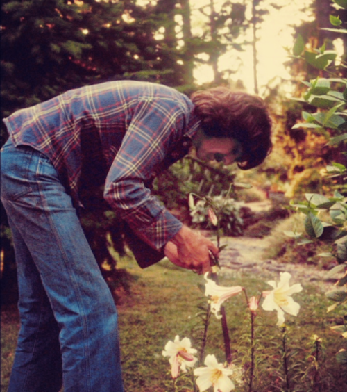 So here are some pictures of George gardening and in his garden and stuff