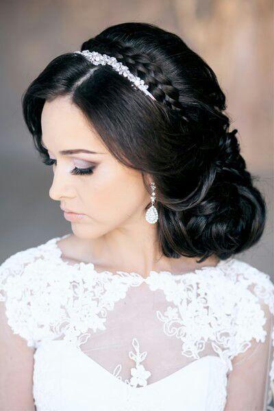 Фото свадебных причесок брюнетки