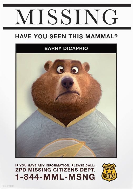 (Author's Note, I based the bear dad off this guy that the official Zootopia Facebook posted)