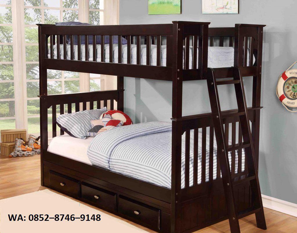 Harga tempat tidur anak kayu jatiWA: 0852–8746–9148ini  cocok untuk efesiensi ruangan selain memiliki bentuk minimalis dengan  box tempat penyimpanan yang bisa digunakan untuk pakaian anak anda
