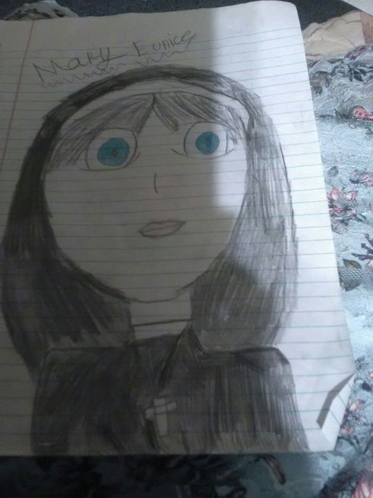 So this is basically a drawing from American horror story season 2 which is called asylum and this is just a drawing of one of the main nuns 😄💙