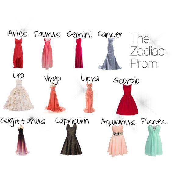 Zodiac Signs Zodiacs As Prom Dresses Wattpad