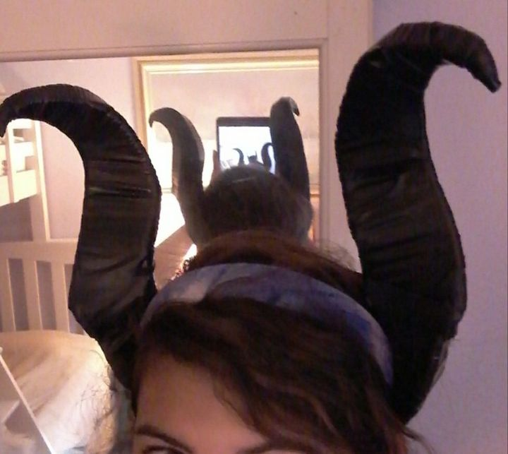 And I finished my horns, imagine being Maleficent for comicon