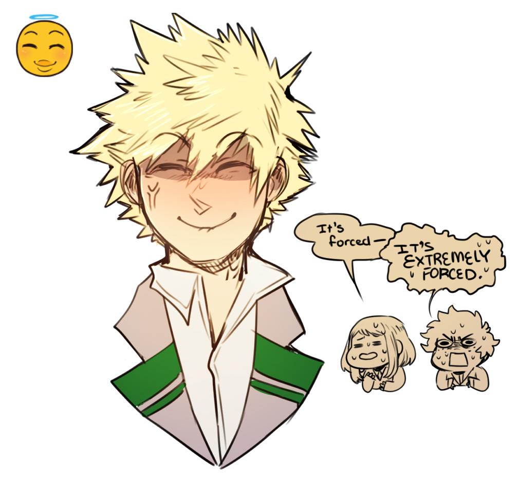 BNHA Meme #1 Bakugou Emoji Face