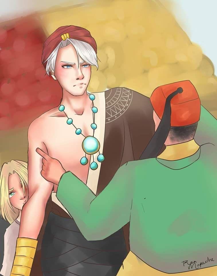 —¿Cómo es posible que quieras defender a un ratero como él? Debemos disciplinarlo antes de que se vuelva peor persona —El vendedor, con las mejillas coloradas por el enojo, trató de despistar a Viktor, pero este fue más listo e impidió nuevamente ...