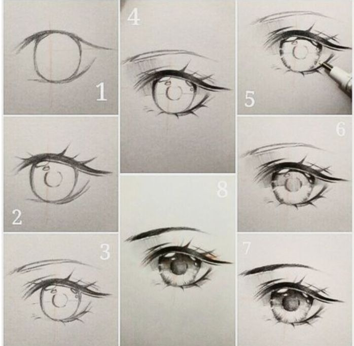 How To Draw Anime كيفية رسم العيون Wattpad
