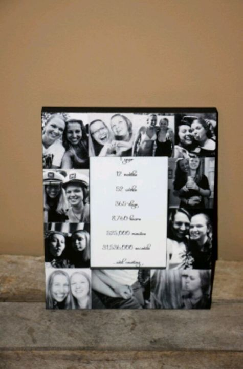 I also got her a picture frame and it has pictures of us around the perimeter and a message in the middle