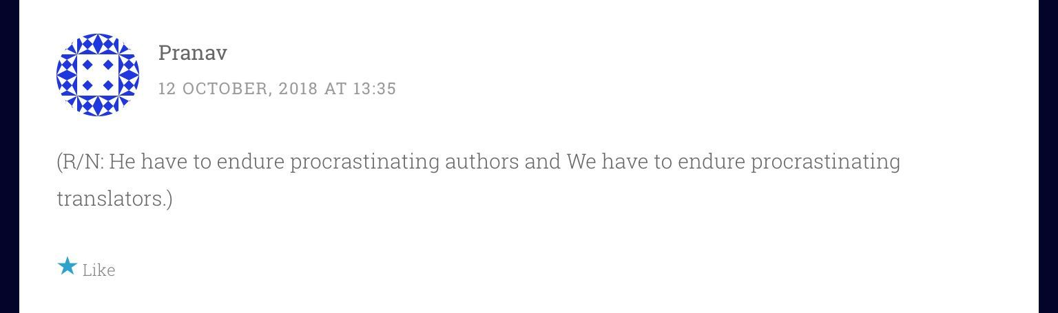 This person had earlier commented on chapter 13 and I had answered them:
