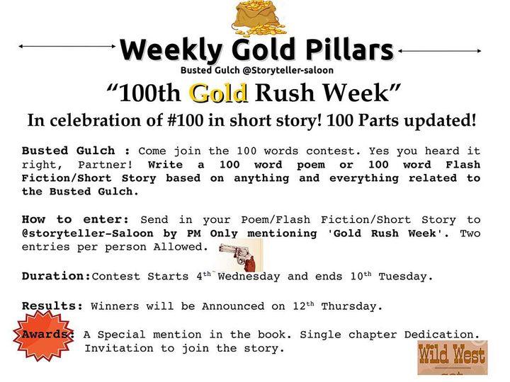 Busted Gulch vol 1 - 100th Gold Rush Week Challenge - Wattpad