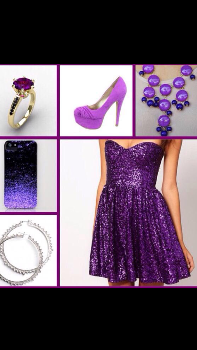 And the last dress is a very sparkly purple dress! The color was super cute to me and I fell in love with it: