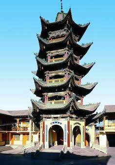 Bangunan Zhan Yue berada di belakang Vila Jing He dan memiliki total lima lantai