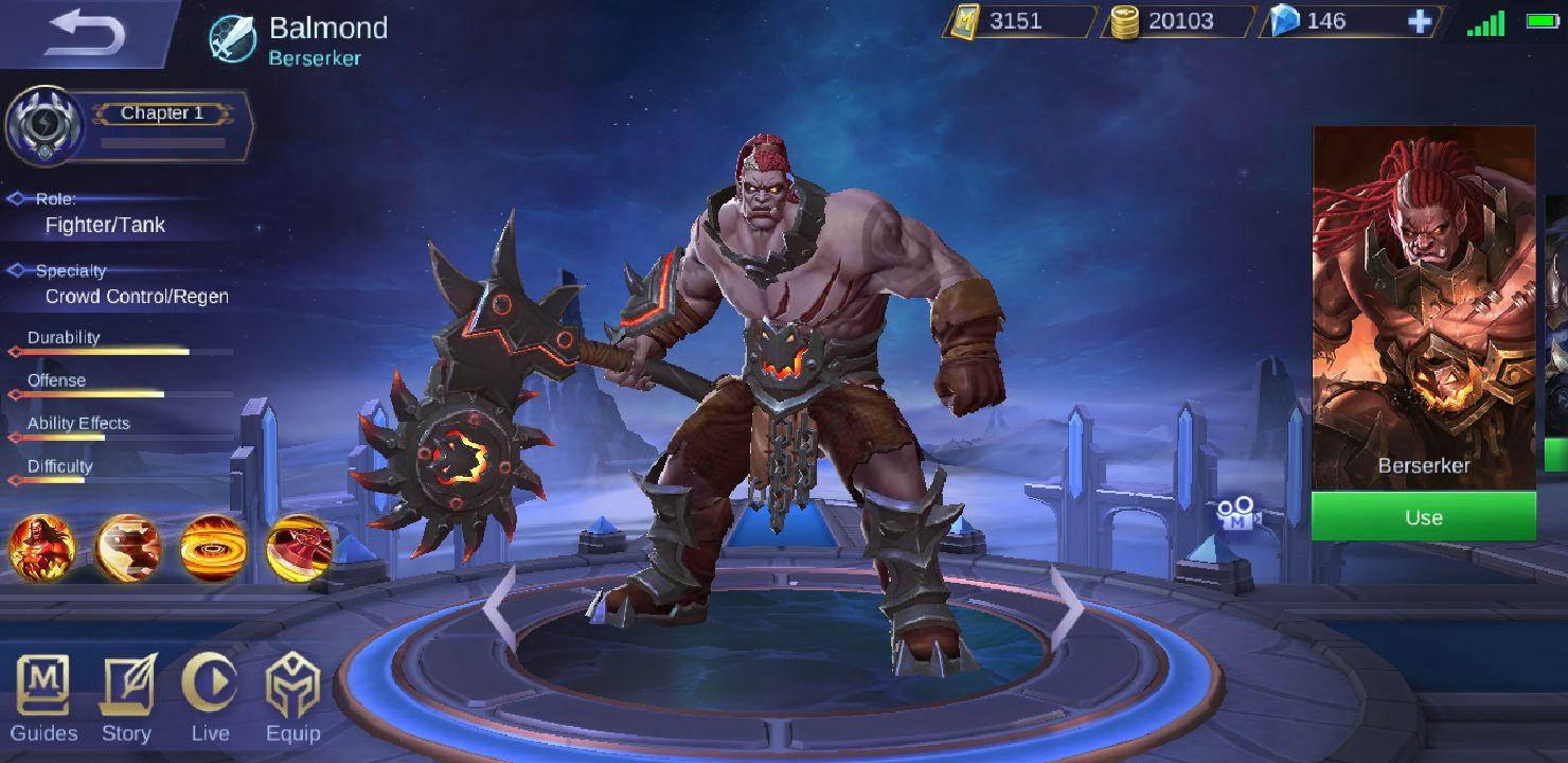Mobile Legends Characters u0026 Skins - Balmond - Wattpad