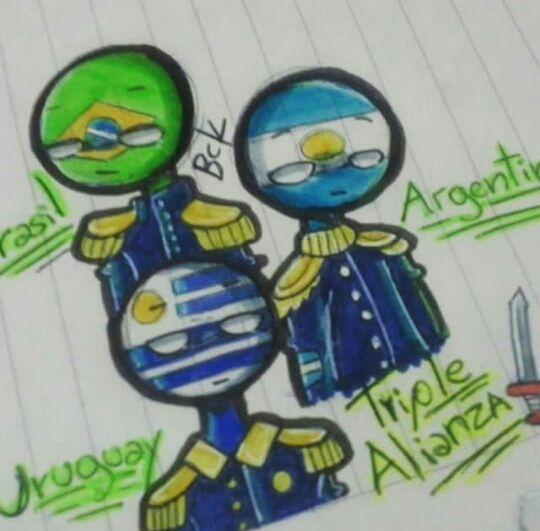 TRÍO TRIPLE ALIANZA(Conformado por Argentina,Brasil y Uruguay)