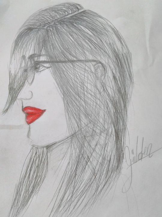 Tasarim Dünyasi Gözlüklü Kız çizimi Wattpad