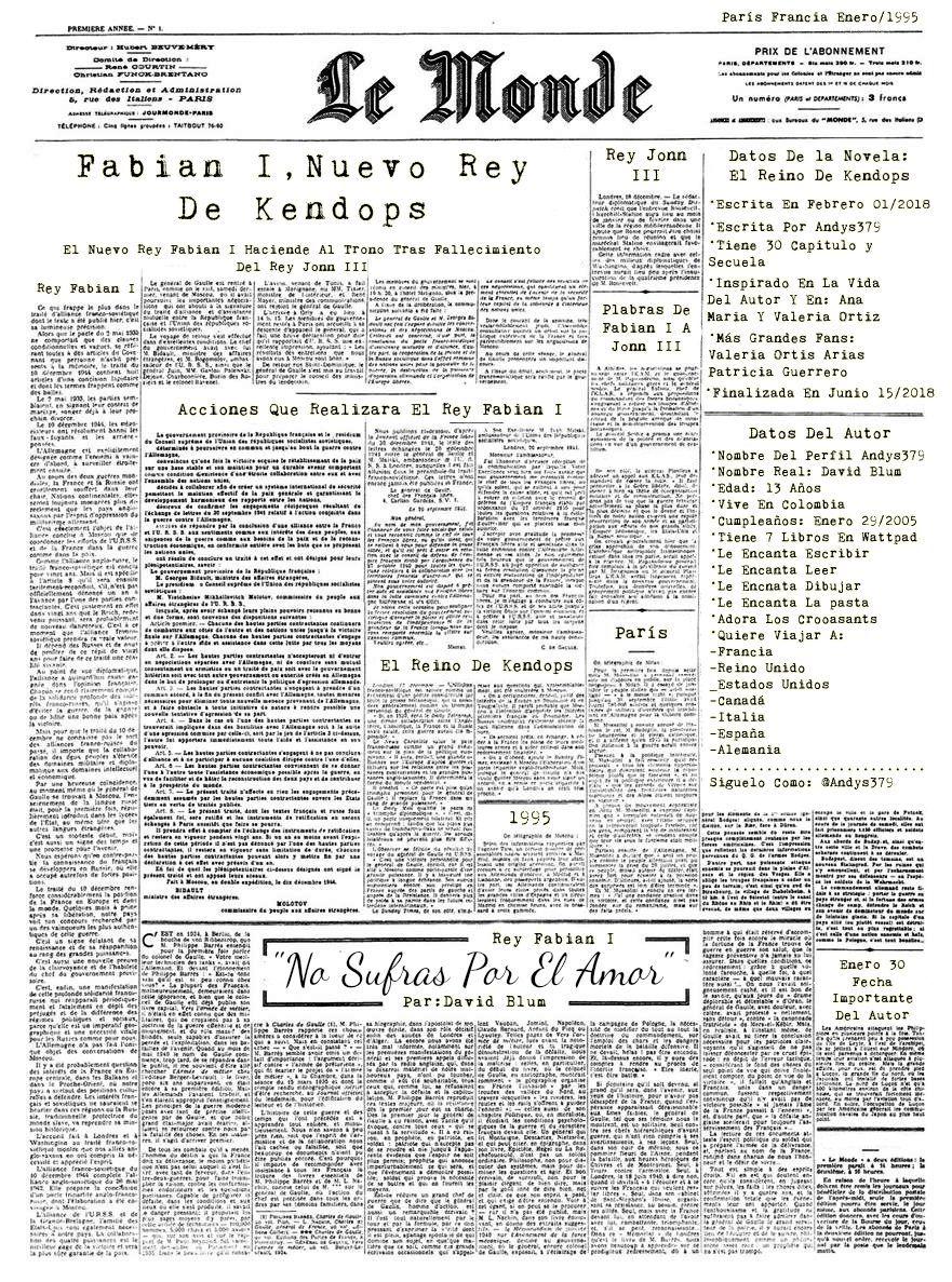 En El Periódico Le Monde, La Noticia De Fabian I