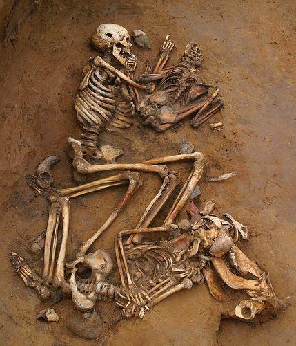 Badacz powołuje się również na wspomniane już tu odkrycie Szafrańskiego, gdzie nieopodal szczątków dziewczynki odnaleziono kamienny tłuk (narzędzie z kamienia używane przez ludzi pierwotnych) w kształcie młota będący zapewne pozostałością dawnego...