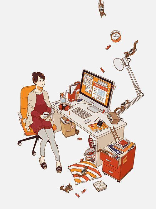 Aku pun dengan tergesa merapihkan meja kerjaku