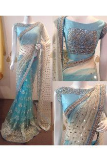 the necklace well matched her light blue saree he had gifted her with so much love and affection in his eyes