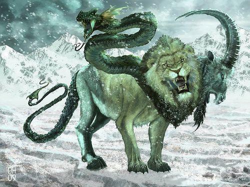 Es considerada la hija de los monstruos dioses griegos Tifón yEquidna