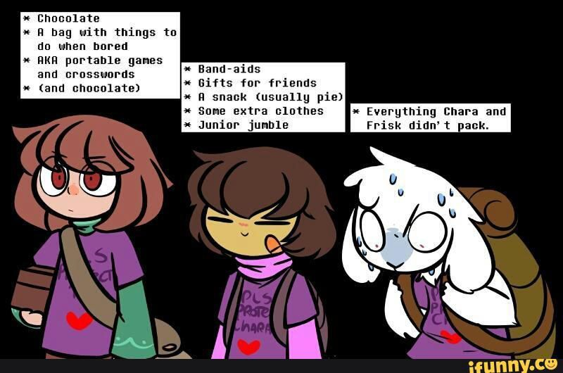 lol i'm Chara in this situation