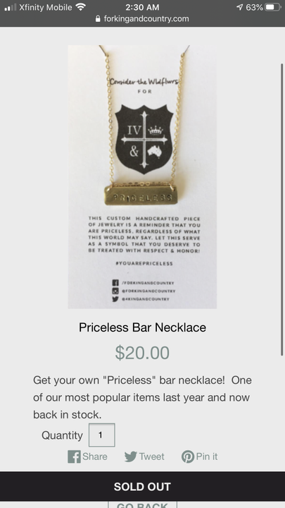 One for KING & COUNTRY mercy that I want is this priceless necklace