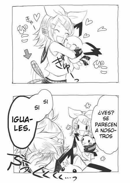 Aww, me encanta que a Rin la hagan tierna<33
