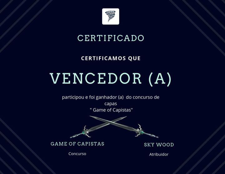 > Certificado oficial do concurso (prévia)