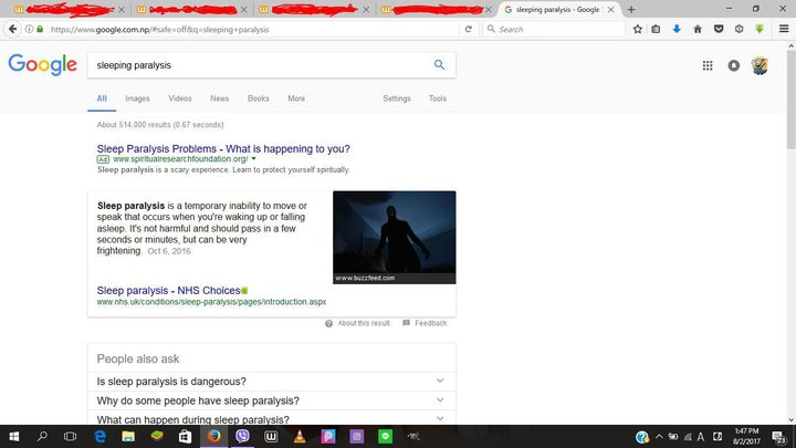 And I told my friend about this and she suggested to google about sleeping paralysis and when I did, I was so freaking shocked