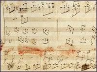 *Quyển nhạc phổ này có thật, hình ở trên là của quyển nhạc phổ thật