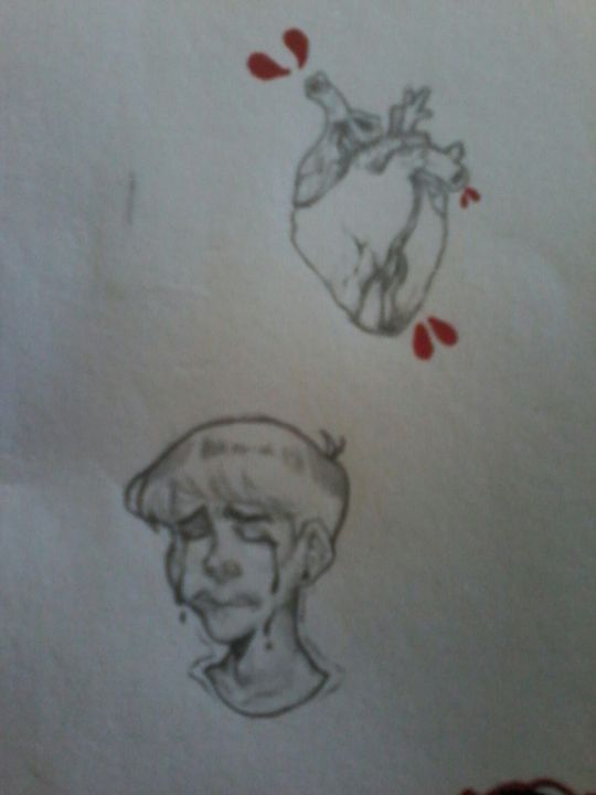 Shading pratice and trying to draw an anatomical heart