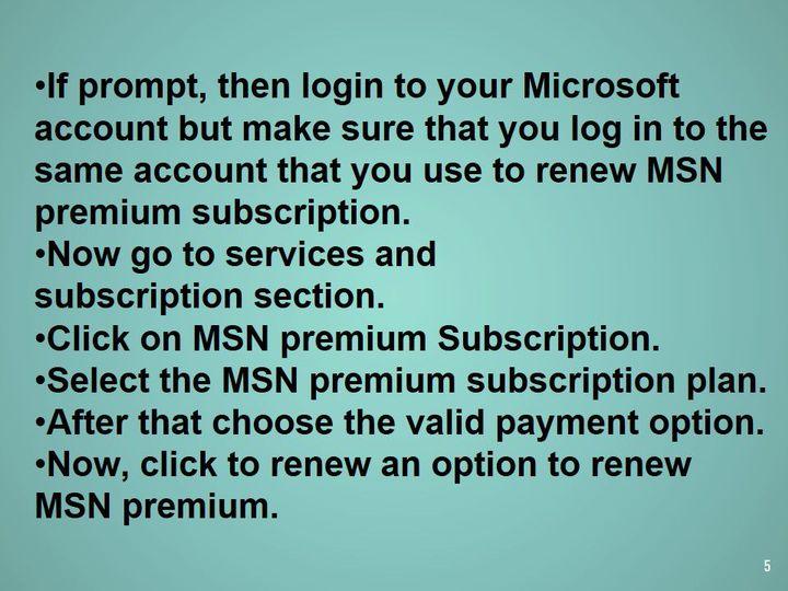 Renew MSN Premium Services | +1-855-785-2511 | MSN Billing