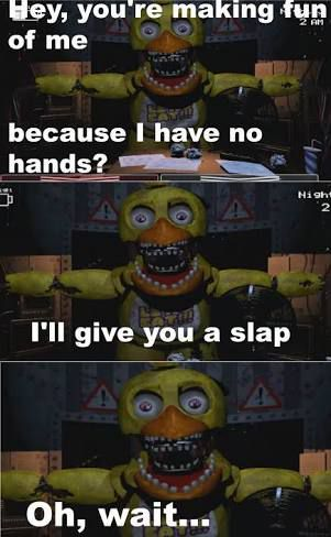 """""""*snicker* I wish I could lend you a hand"""""""