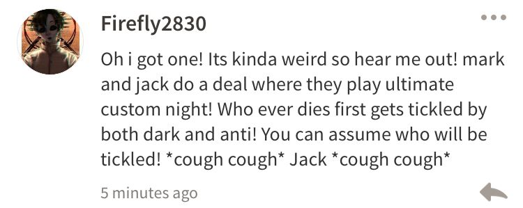 Jack me off and tickle